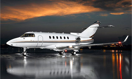 Exterior of Hawker 850 XP