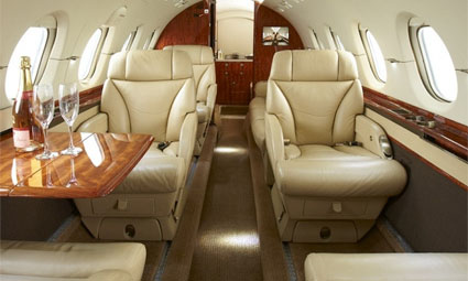 Interior of Hawker 850 XP