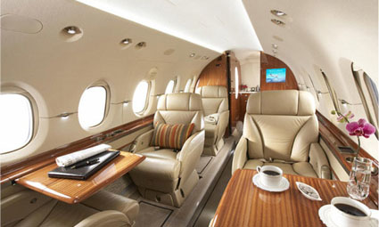 Interior of Hawker 900 XP