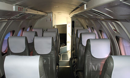 Interior of Jetstream 32