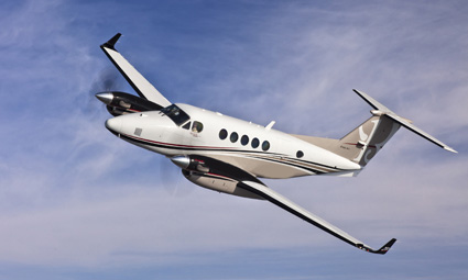 Exterior of King Air 200