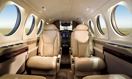 Interior of King Air 200