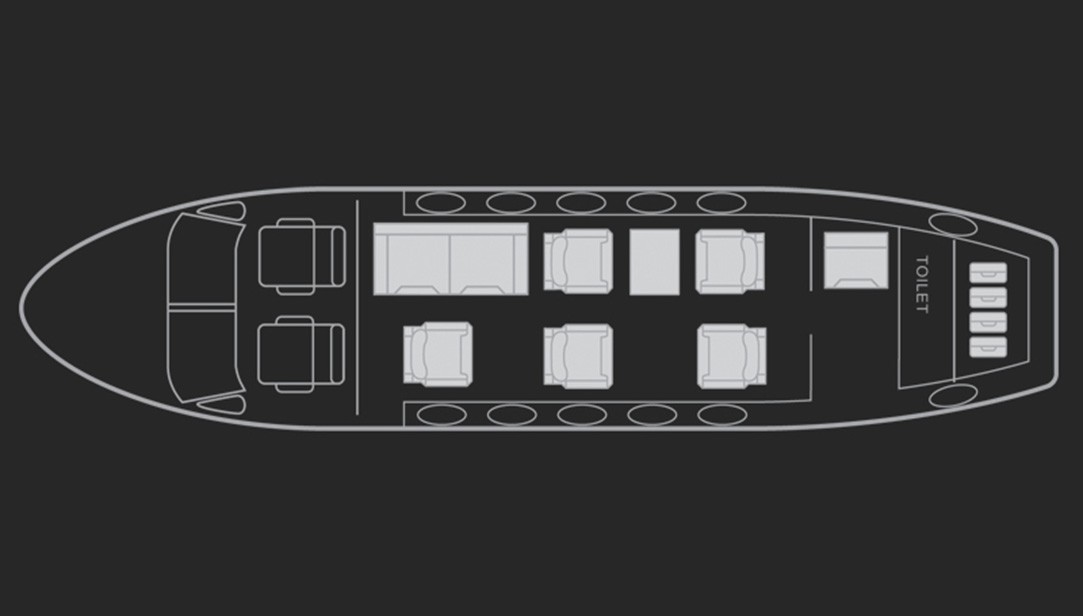 Floor plan of King Air 300