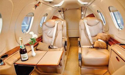 Interior of King Air 300