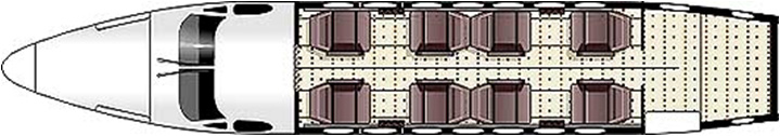 Floor plan of King Air 350