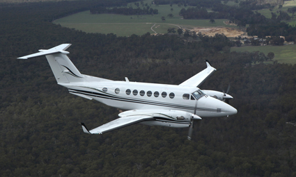 Exterior of King Air 350