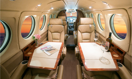 Interior of King Air 350