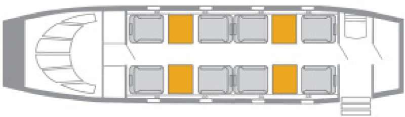 Floor plan of King Air 350i