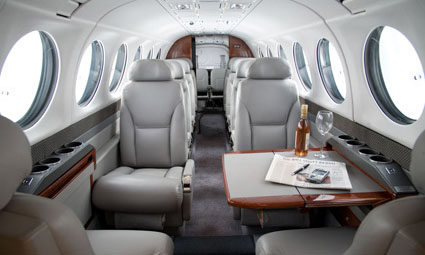 Interior of King Air 350i