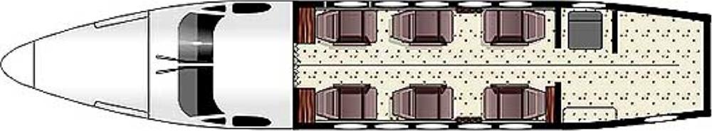 Floor plan of King Air B200