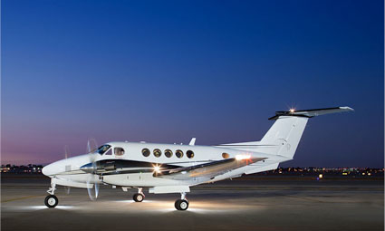 Exterior of King Air B200