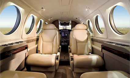 Interior of King Air B200