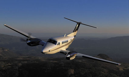 Exterior of King Air B200C