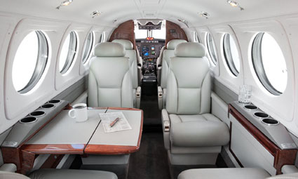 Interior of King Air B200C