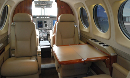 Interior of King Air C90