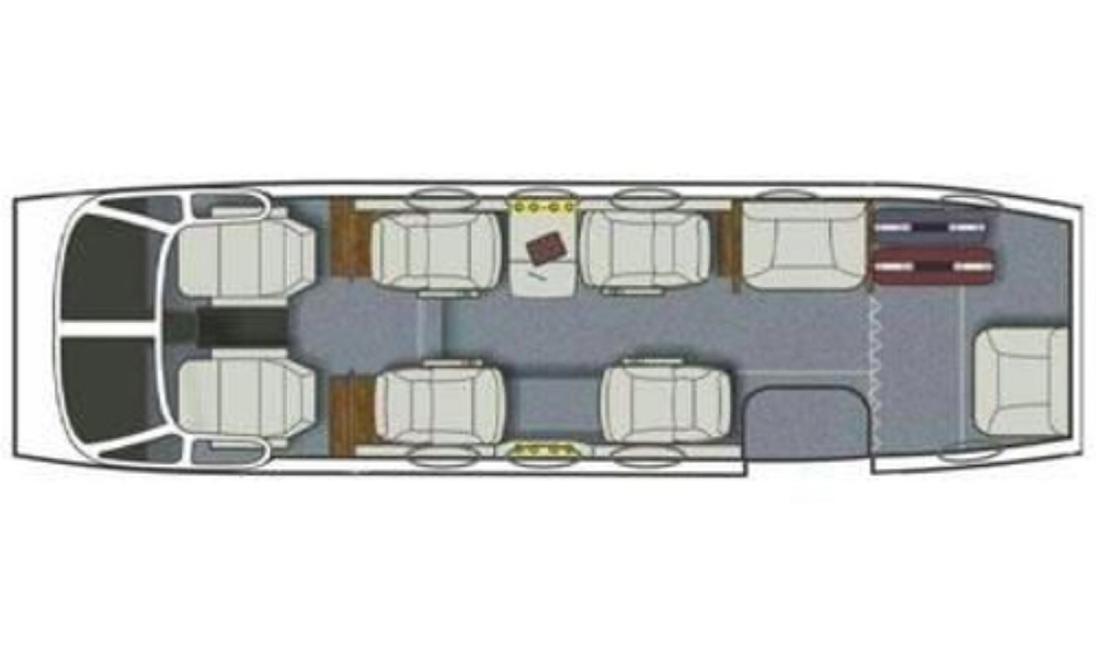 Floor plan of King Air C90B