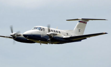 Exterior of King Air C90B