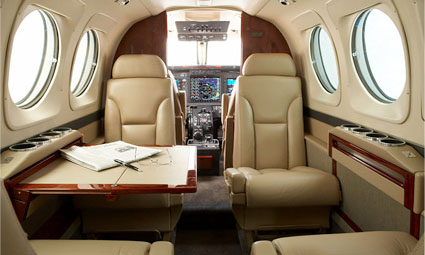 Interior of King Air C90B