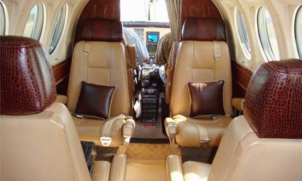 Interior of King Air C90GTi