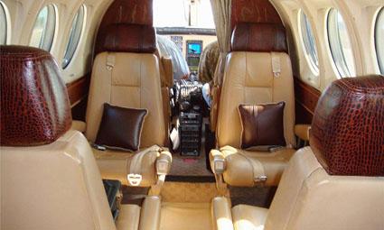 Interior of King Air C90GTi