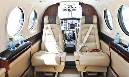 Interior of King Air C90GTx