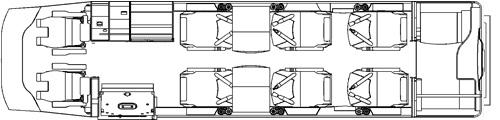 Floor plan of Learjet 31A