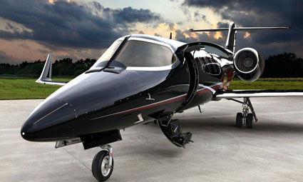 Exterior of Learjet 31A