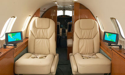 Interior of Learjet 31A