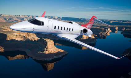 Exterior of Learjet 40