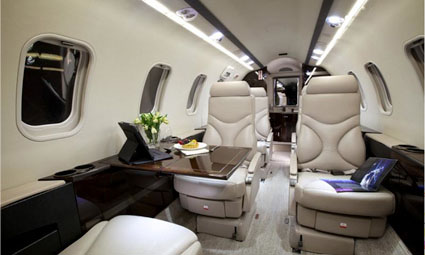 Interior of Learjet 40