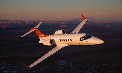 Exterior of Learjet 40XR