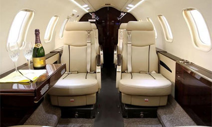 Interior of Learjet 40XR