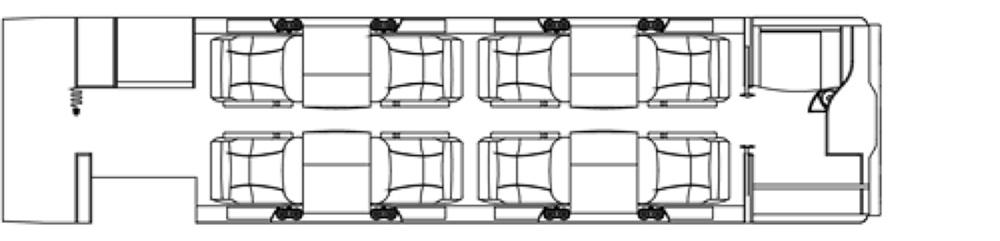 Floor plan of Learjet 45