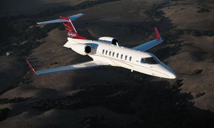 Exterior of Learjet 45
