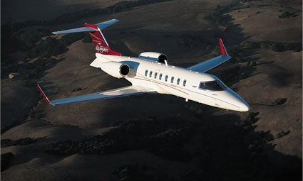 Exterior of Learjet 45XR