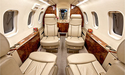 Interior of Learjet 45XR