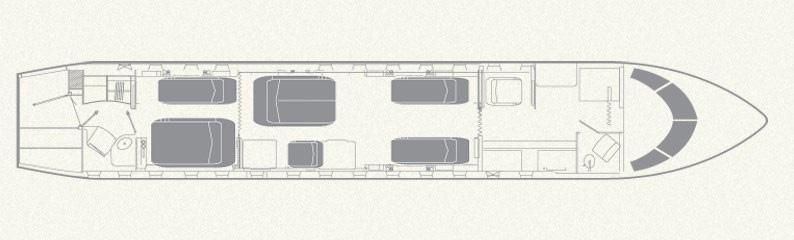 Floor plan of Learjet 55B