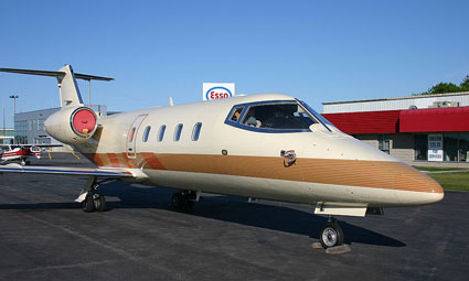 Exterior of Learjet 55B