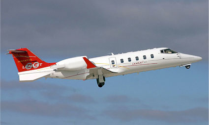 Exterior of Learjet 60
