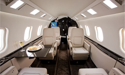 Interior of Learjet 60