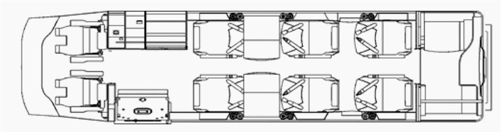 Floor plan of Learjet 60XR