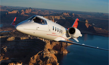 Exterior of Learjet 60XR