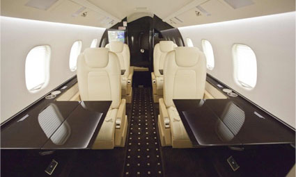 Interior of Learjet 60XR