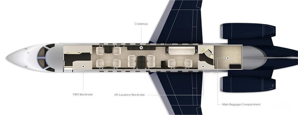 Floor plan of Legacy 600