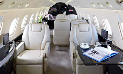 Interior of Legacy 600