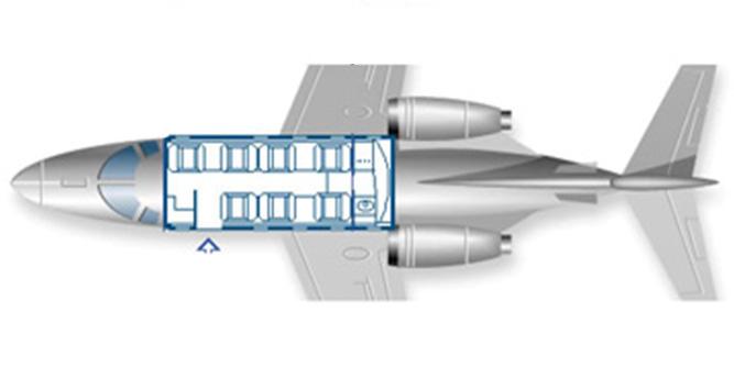 Floor plan of Beechjet 400 A