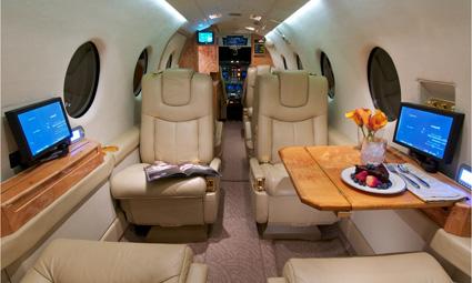 Interior of Beechjet 400 A