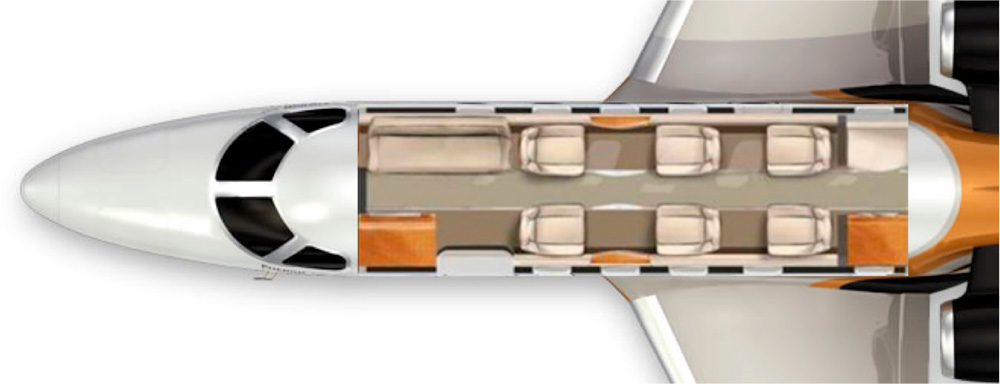 Floor plan of Phenom 300