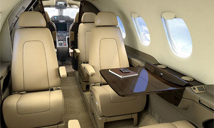 Interior of Phenom 300