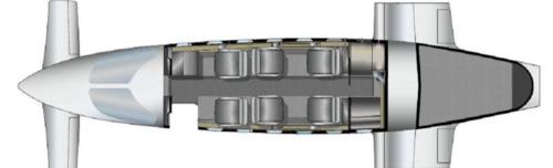 Floor plan of Piaggio Avanti II